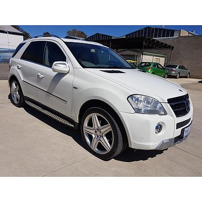 3/2010 Mercedes-Benz ML350 CDI Sports Luxury (4x4) W164 09 UPGRADE 4d Wagon White 3.0L