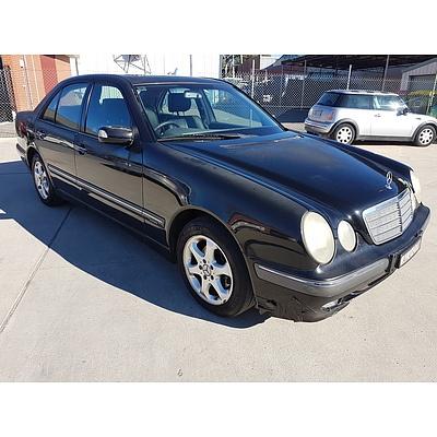 3/2002 Mercedes-Benz E200k Elegance W210 4d Sedan Black 2.0L