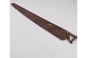 Vintage Single Handed Log Saw