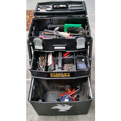 Stanley Fat Max Wheeled Tool Box With Tools