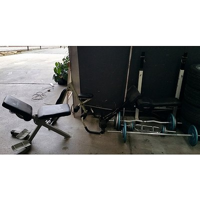 Lot Of Assorted Gym Equipment