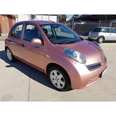 1/2009 Nissan Micra CITY Collection K12 5d Hatchback Pink 1.4L