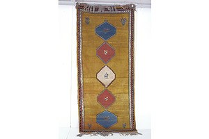 Persian Gabbeh Hand Knotted Wool Pile Rug with Animal Motifs
