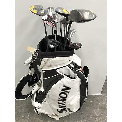 Mixed Brand Golf Clubs In Srixon Bag