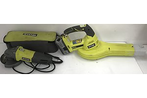 Ryobi Angle Grinder and Cordless Blower