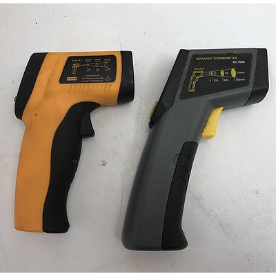 Infrared Thermometers -Lot Of Two