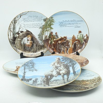 Six Limited Edition Moliver Collection Banjo Paterson Plates