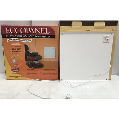 Ecopanel Electric Wall Mounted Panel Heaters -Lot Of Two