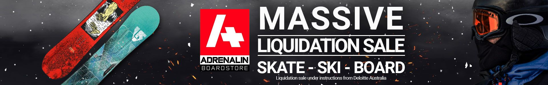 Arenalin Boardstore Massive Liquidation Sale - Skate Ski Board