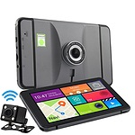Wireless 3-in-1 GPS Dashcam & Reversing Camera with 7 inch Touch Screen & Bluetooth - Brand New