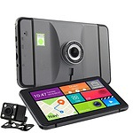3in1 GPS Dashcam & Reversing Camera with 7 inch Touch Screen Wi-Fi & Bluetooth - Brand New + 'image'
