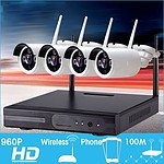 Wireless 4CH Security 960P Camera System with NVR 1080P Built-in Router - Brand New