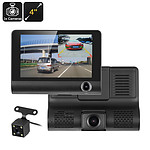 4 inch Car DVR Kit with 3 Cameras G-Sensor Loop Recording and Rear View Parking Cam - Brand New + 'image'