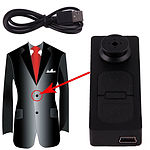 Concealed Spy Button Camera DVR Digital Video Recorder, Photos & Audio