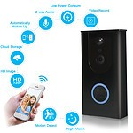 2.4GHz Wi-Fi Wireless Smart Video Doorbell, HD Security Camera, Real-time Video & Two-way talking, Night Vision, Motion Detection, APP iOS & Android