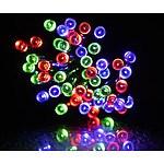 50 LED Solar Coloured Fairy Lights - RRP: $99