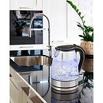 Blue LED Pursonic Glass Kettle - RRP $115 - Brand New