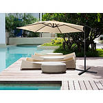 Milano Outdoor 3M Beige Cantilever Umbrella with bonus full length protective cover - RRP $399 - Brand New