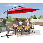 Milano Outdoor 3M Maroon Cantilever Umbrella with bonus full length protective cover - RRP $399 - Brand New