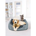 4 Paws Charcoal Ultra Luxe Rectangle Pet Bed - RRP $69 - Brand New