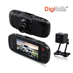 Dual Camera In-Car Digital Video Recorder (DVR) - with Warranty