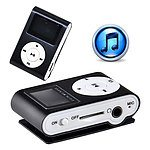 Mini Clip 8G MP3 Music Player with USB Cable & EarPhone Black - with Warranty