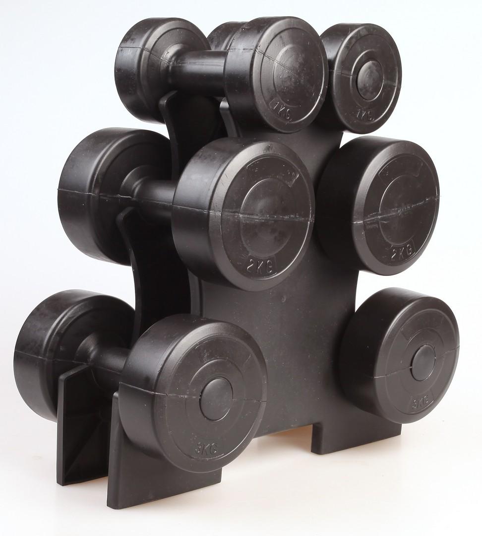 Small Dumbbell Set: Dumbbell Weight Set 12KG RRP $49.95 - Lot 905605
