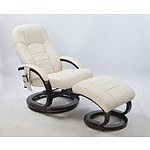 PU Leather Massage Chair Recliner Ottoman Lounge Remote - RRP $739.95 - Brand New