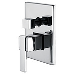 Chrome Bathroom Shower Wall Mixer Diverter w/ WaterMark
