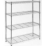 Modular Chrome Wire Storage Shelf 1200 x 450 x 1800 Steel Shelving - RRP $284.95 - Brand New