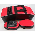 Kicking Boxing Sparring Shield & Punching Pad Mitts Combo - RRP: $154.95