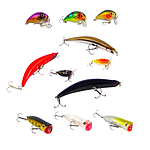Finesse Toppu Mizzue Hard Body Surface Lures - Set of 11