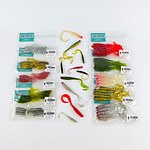 Swimerz 100mm and 75mm VTail Soft Plastic Lures Pack of 65 - RRP $69.50 - Brand New