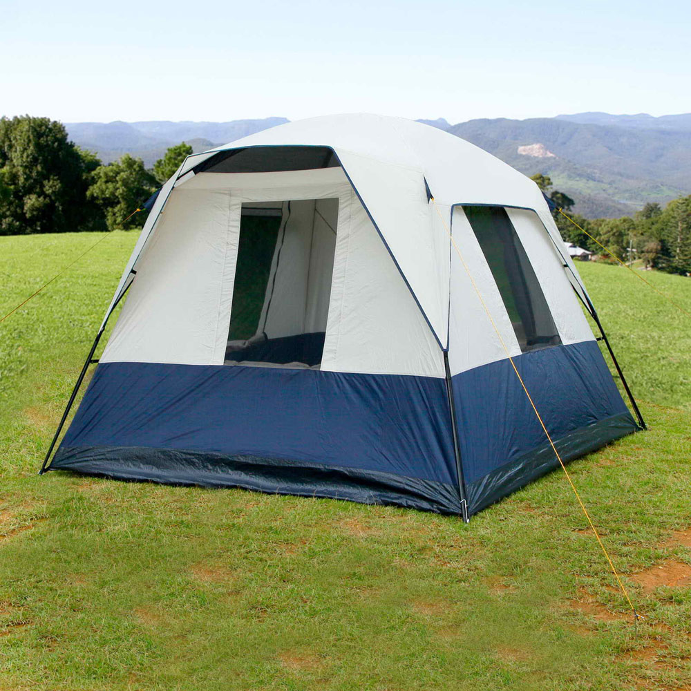 4 Person Family Camping Tent Navy - Lot 899800