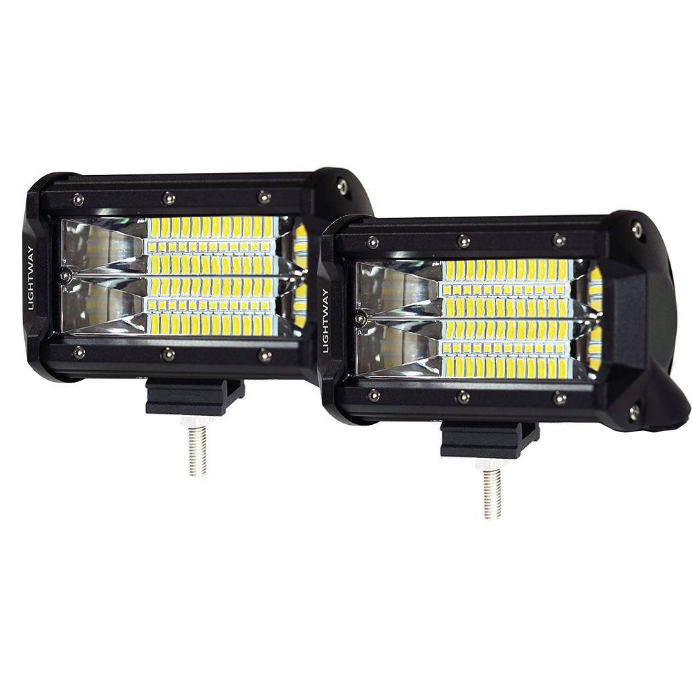 Pair 5Inch 72W CREE LED Light Bar - Lot 907166
