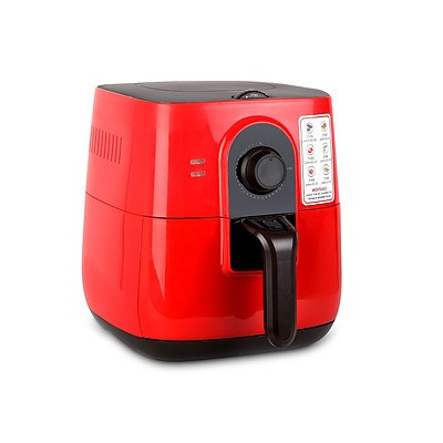 3L Oi Free Air Fryer - Red - Free Shipping