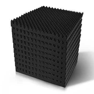 60pcs Studio Acoustic Foam Sound Absorption Proofing Panels 50x50cm Black Eggshell  - Brand New - Free Shipping