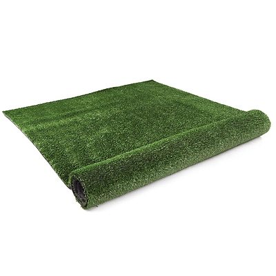 Artificial Grass 20 SQM Synthetic Artificial Turf Flooring 15mm Olive - Free Shipping