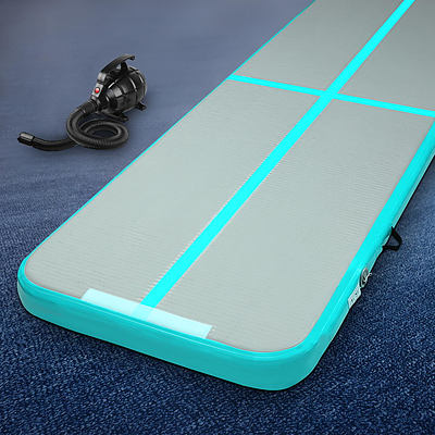 Everfit GoFun 3X1M Inflatable Air Track Mat with Pump Tumbling Gymnastics Green - Brand New - Free Shipping