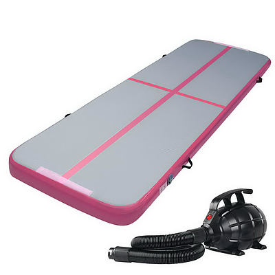 Everfit GoFun 3X1M Inflatable Air Track Mat with Pump Tumbling Gymnastics Pink - Brand New - Free Shipping