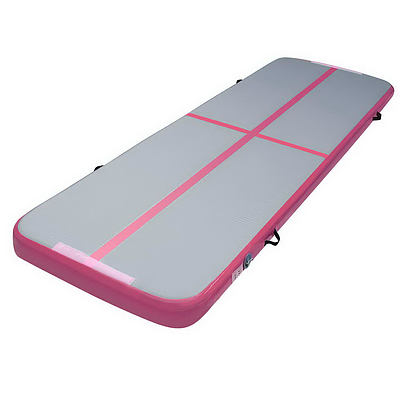 Everfit 3m x 1m Air Track Mat Gymnastic Tumbling Pink and Grey - Brand New - Free Shipping