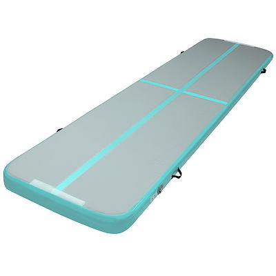 Everfit GoFun 4X1M Inflatable Air Track Mat Tumbling Floor Home Gymnastics Green - Brand New - Free Shipping