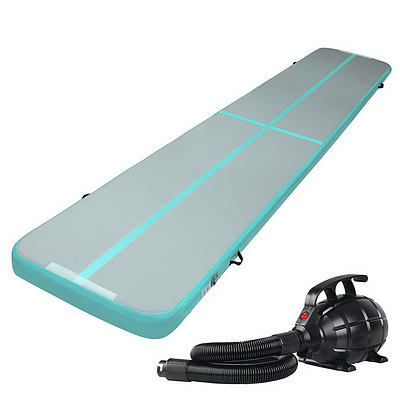 Everfit GoFun 5X1M Inflatable Air Track Mat with Pump Tumbling Gymnastics Green - Brand New - Free Shipping