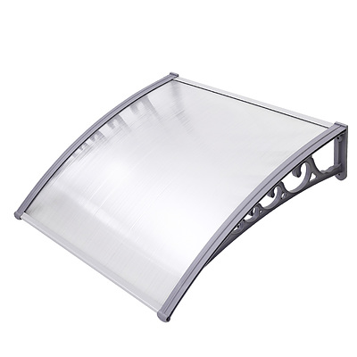 Instahut DIY Window Door Awning Transparent 1 x 1M - Free Shipping