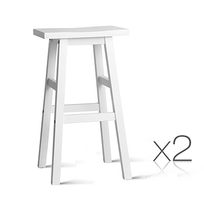 Set of 2 Baden Bar Stools White - Brand New - Free Shipping