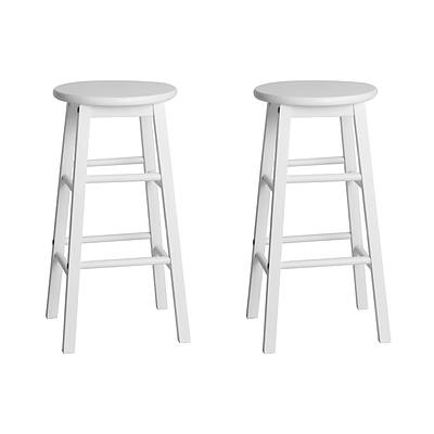 Set of 2 Wooden Bar Stool White - Brand New - Free Shipping