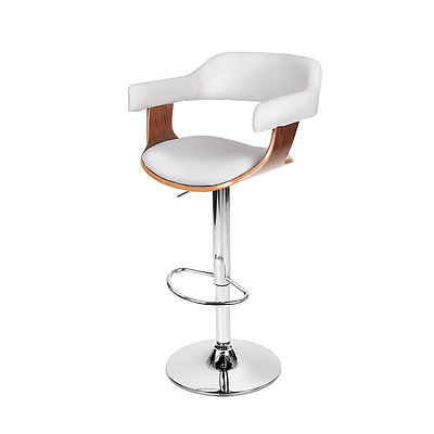 Wooden Swivel Bar Stool - White - Free Shipping