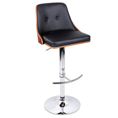 PU Leather Wooden Bar Stool Black  - Brand New - Free Shipping