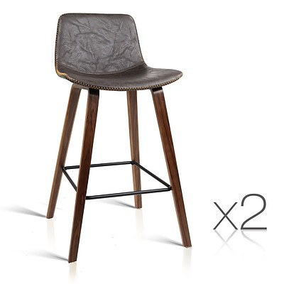 Set of 2 Wooden Bar Stool - Free Shipping