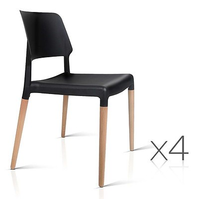 Set of 4 Belloch Replica Dining Chair - Black - Brand New - Free Shipping